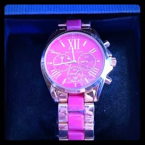 Gorgeous Brand New Michael Kors Gold & Pink Watch